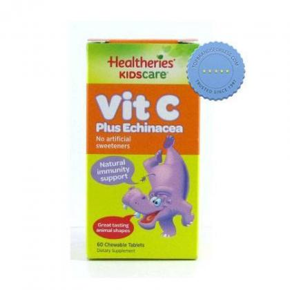 Buy Healtheries Kids Echinacea Vitamin C Chewable 60s -