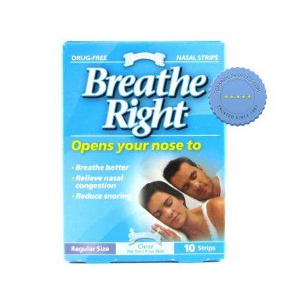 Buy Breathe Right Nasal Strips Clear Regular 10
