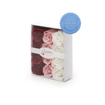Buy Isabelle Laurier Luxury Gift Box 12 Soap Confetti Roses - Prompt Dispatch
