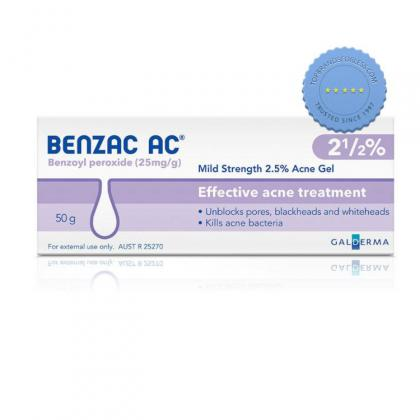 Buy Benzac AC Gel 2.5 pc 50g - International Shipping