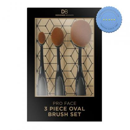 Buy Designer Brands 3 Piece Pro Face Oval Brush Contour Set - Prompt Dispatch