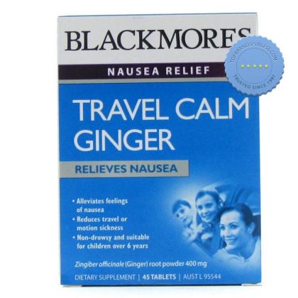 Buy Blackmores Travel Calm Ginger 45 Tablets 45 Tablets -
