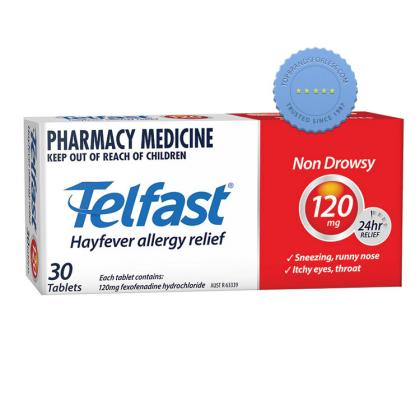 Telfast 120mg Tablets 30s -