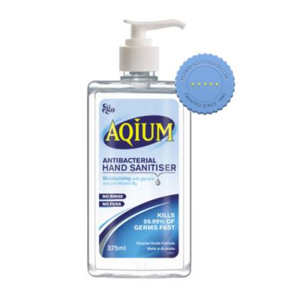 Buy Aqium Gel Antibacterial Hand Gel Pump 375ml -