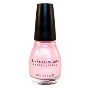 Buy SINFUL COLORS shimmer nail enamel glass pink -
