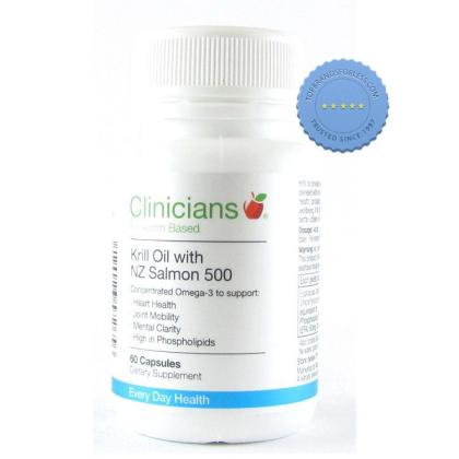 Buy Clinicians Krill Oil NZ Salmon 500 60 Capsules -