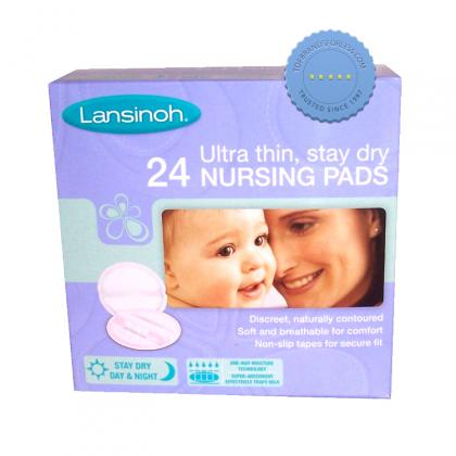 Buy Lansinoh Ultra Thin Stay Dry 24 Nursing Pads - Prompt Dispatch