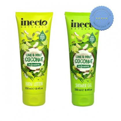 Buy Inecto Naturals Coconut Infusion Lime and Mint Set 2 x 250ml - Prompt Dispatch