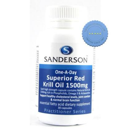 Buy Sanderson Krill Oil 1500mg 30 Capsules -
