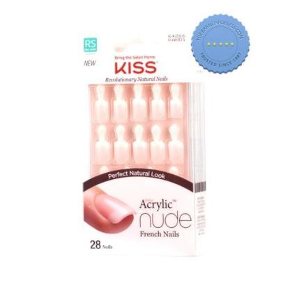 Buy Kiss Acrylic Nude French Nails Breathtaking x 28