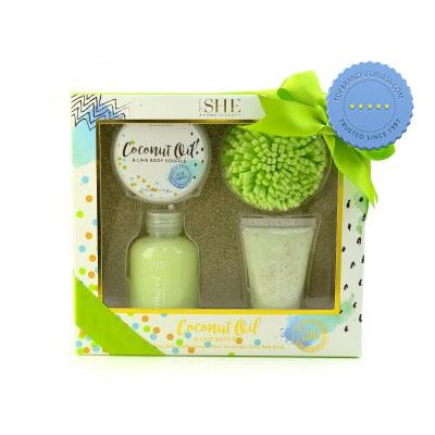 Buy She Aromatherapy Coconut Oil Pamper Set Lime - Prompt Dispatch