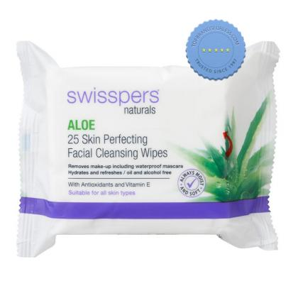 Buy Swisspers Naturals Aloe 25 Skin Perfecting Facial Cleansing Wipes -