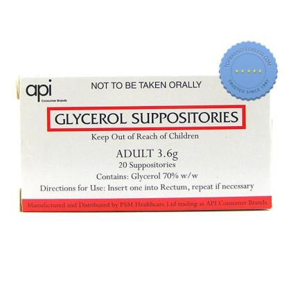 Buy Glycerol Suppositories 3 6gm 20 PSM