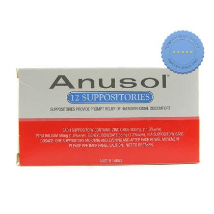 Buy Anusol Suppositories 12