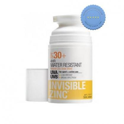 Buy Invisible Zinc 4 Hour Water Resistant 30 Plus 100ml -