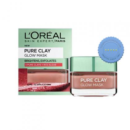 Buy Loreal Skin Expert Pure Clay Mask Purifies Exfoliating Red 50ml -