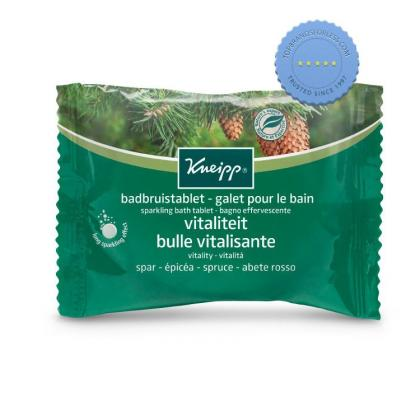 Buy Kneipp Sparkling Bath Tablet Vitality Spruce 80g - Prompt Dispatch