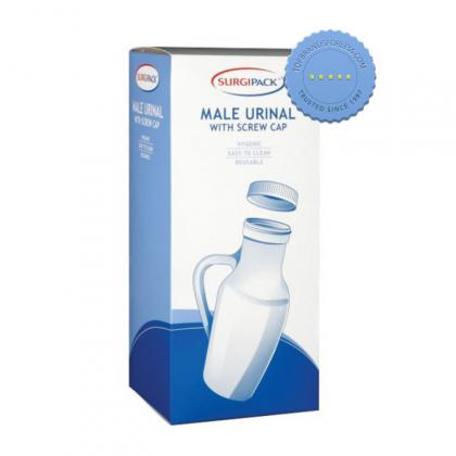 Buy surgipack male urinal with screw cap - Prompt Dispatch