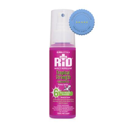 Buy Rid Insect Repellent Tropical Strength Plus Antiseptic Pump Spray 150g -