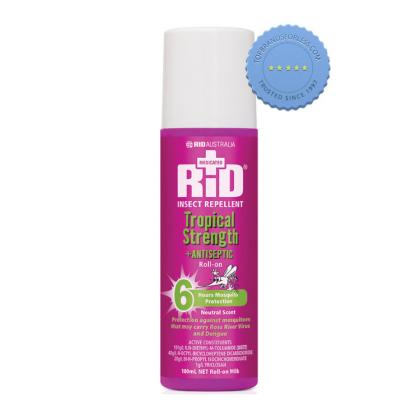 Rid Insect Repellent Tropical Strength Plus Antiseptic Roll On 100g