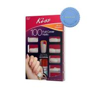 Buy Kiss Fake Nails Short Length Square Full Cover 100s