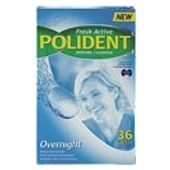 Buy Polident Over Night Denture 36 Tablets -