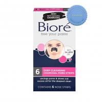 Buy Biore Deep Cleansing Charcoal Pore Strips 6 Nose Strips
