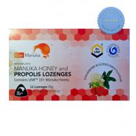 Kiwi Manuka UMF15 Manuka Honey and Propolis Lozenges 12 Strawberry Elderflower