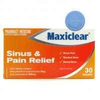 Buy Maxiclear Sinus & Pain Relief 30 Tablets - Cold, Flu and Allergies