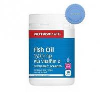 Buy Nutralife Omega 3 Fish Oil 1500mg Plus Vitamin D 180 Capsules -