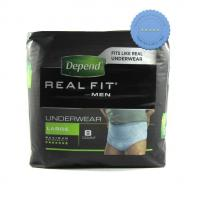 Buy depend realfit for men large x 8 -