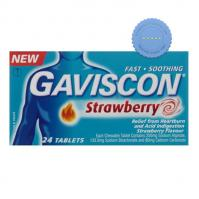 Buy gaviscon strawberry 24 tablets -