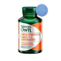 Buy Natures Own Triple Strength Garlic Vitamin C Horseradish 100 Tablets -