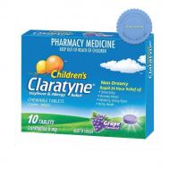 Buy Claratyne Childrens Chewable Tablets Grape Flavoured 10 Tablets