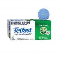 Buy Telfast 180mg 50 Tablets - Prompt Dispatch