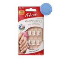 Buy Kiss Nails Everlasting French Real Short Length Pink 28s