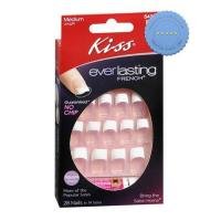 Buy Kiss Nails Everlasting French Medium Length Pink 28s -